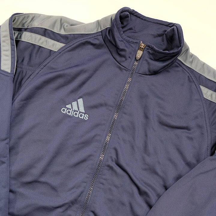 Vintage Adidas Embroidered Logo Track Jacket - M
