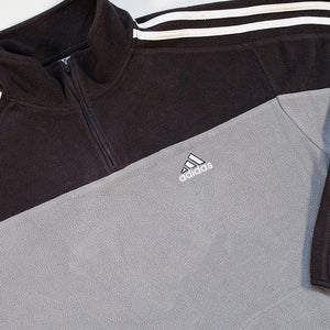 Vintage Adidas Fleece Quarter Zip Sweatshirt - S