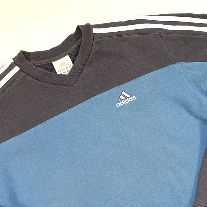 Vintage Adidas Stripes Sweatshirt - M