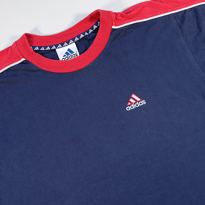 Vintage Adidas Embroidered Logo T-Shirt - M/L