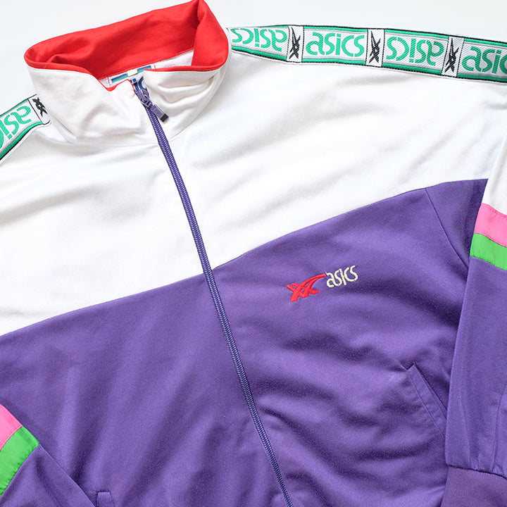 Vintage Asics Classic Tape Spell Out Track Jacket - M
