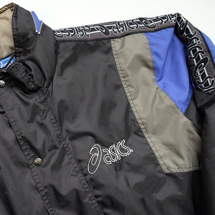Vintage Asics Embroidered Tape Logo Quilted Jacket - L