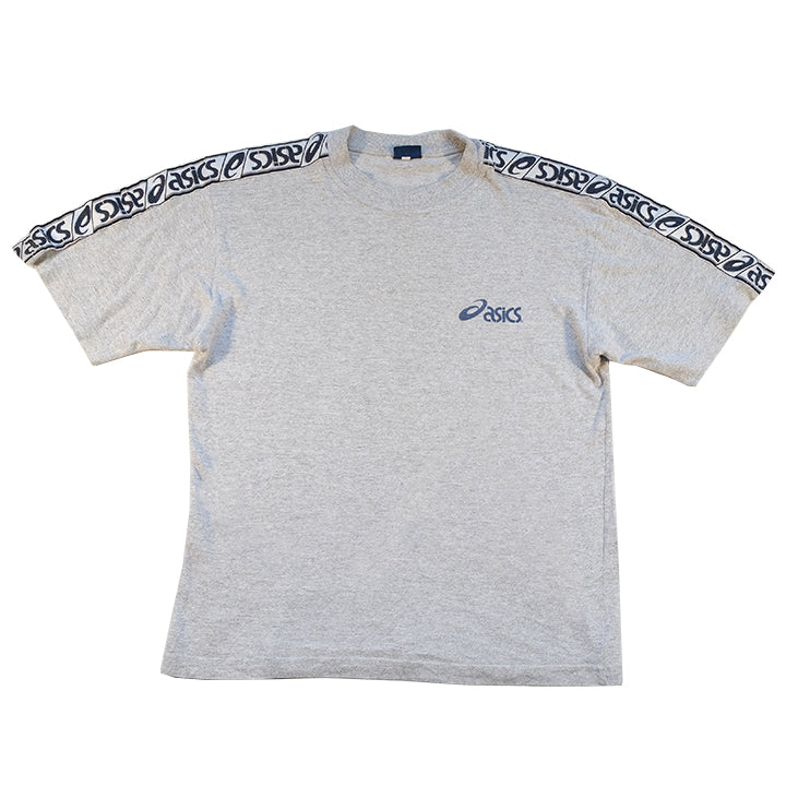 Vintage Asics Tape Logo Spell Out T-Shirt - M