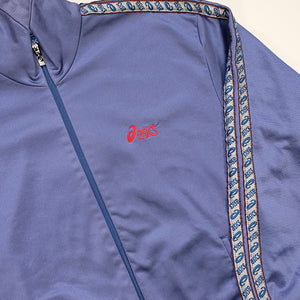 Vintage Asics Spell Out Tape Track Jacket - L