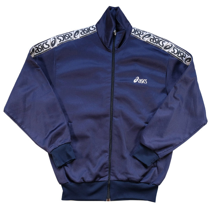 Vintage Asics Tape Spell Out Track Jacket - S/M