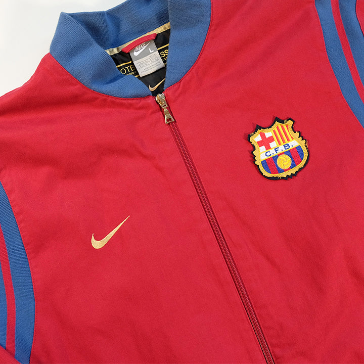 Vintage Nike Barcelona Embroidered Logo Heavy Weight Jacket - L