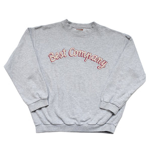 Vintage Best Company Embroidered Spell Out Crewneck - L