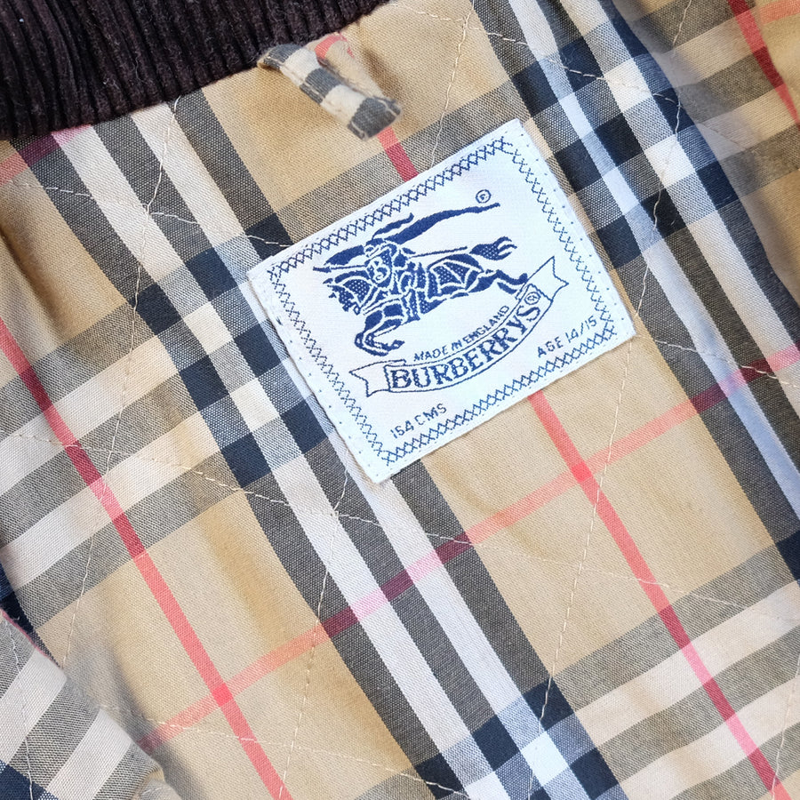 Vintage Burberry Nova Check Lining Made In England Parka Jacket - M