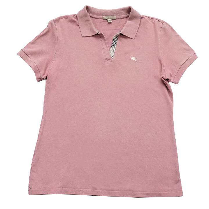 Vintage Burberry WOMENS Embroidered Logo Top - L