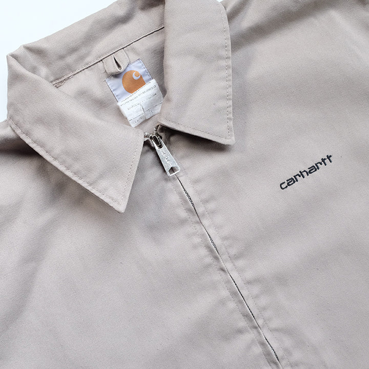 Vintage Carhartt Embroidered Logo Cotton Drill Jacket - L