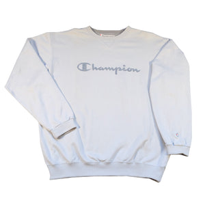 Vintage Champion BIG Embroidered Spell Out Crewneck - XL