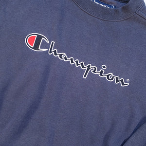 Vintage Champion Embroidered Spell Out Crewneck - S/M