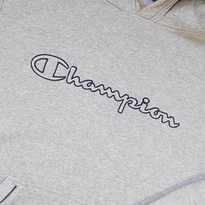 Vintage Champion Embroidered Spell Out Hoodie - L