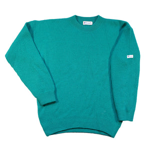 Vintage Champion Sleeve Patch Knit Sweater - M