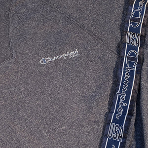 Vintage RARE Champion Quarter Zip Tape Spell Out Pullover - M/L