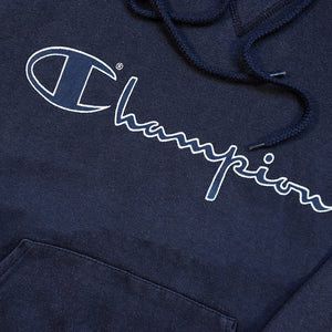 Vintage Champion Spell Out Hoodie - S