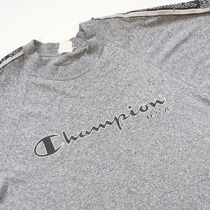 Vintage Champion USA Spell Out Tape T-Shirt - S