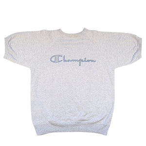 Vintage Champion Spell Out Short Sleeve Sweatshirt - M