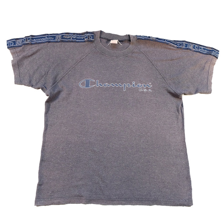 Vintage Champion Tape Spell Out T-Shirt - L