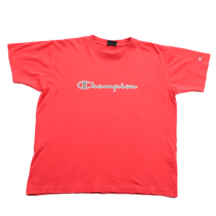 Vintage Champion Spell Out T-Shirt - XS