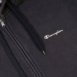 Vintage Champion Embroidered Logo Zip Up Hoodie - L