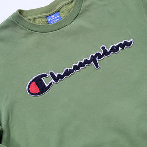 Vintage Champion Embroidered Spell Out Crewneck - M