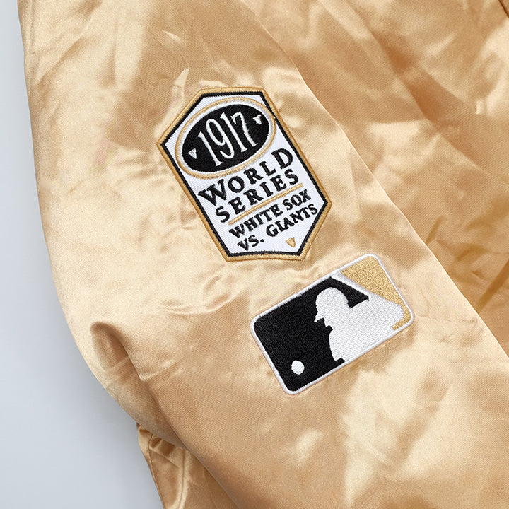 Vintage Chicago White Sox Satin Spell Out Bomber Jacket - M