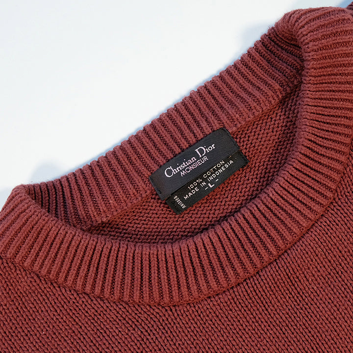 Vintage Christian Dior Knit Sweater - XL