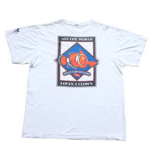 Vintage Clown Fish Graphic Single Stitch T-Shirt - XL