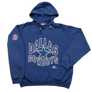 Vintage Dallas Cowboys Big Embroidered Spell Out Hoodie - M