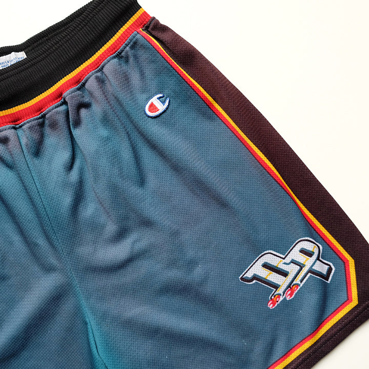 Vintage RARE Champion Detroit Pistons Basketball Shorts - L