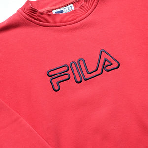 Vintage Fila Embroidered Spell Out Crewneck - L