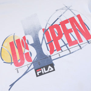 Vintage RARE Fila US OPEN New York Spell Out T-Shirt - L