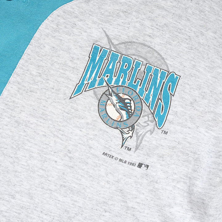 Vintage 1993 Florida Marlins Big Graphic Made In USA Top - L