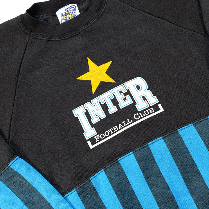 Vintage RARE  Inter Milan Football Spell Out Crewneck Made In ITALY - S/M