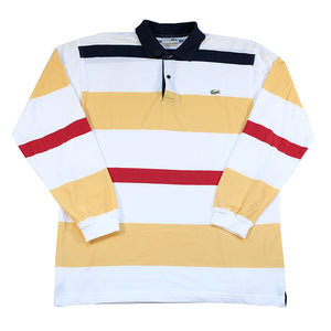Vintage Lacoste Stripe Long Sleeve - XL