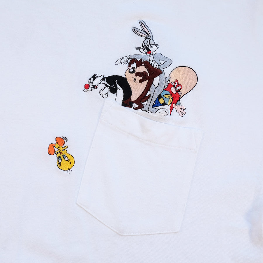 Vintage Looney Tunes Embroidered Graphic T-Shirt - L/XL