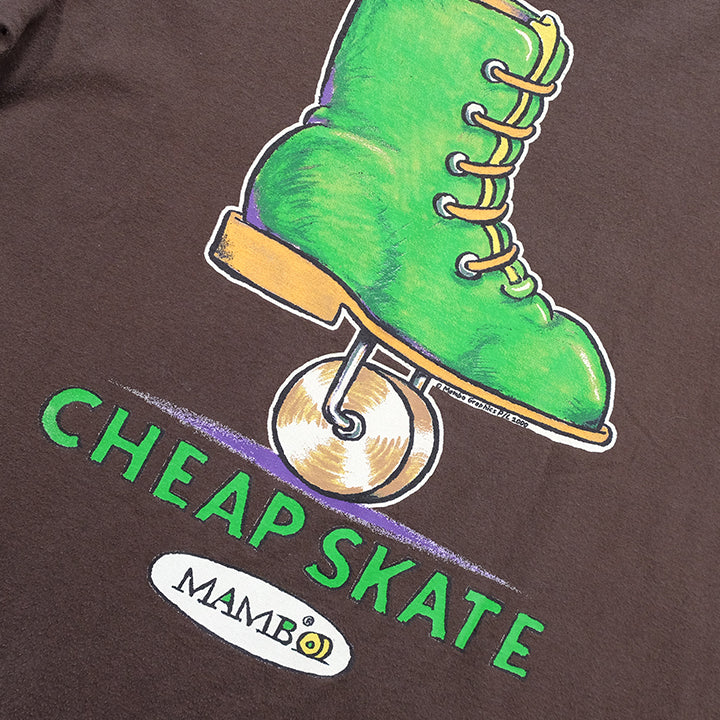 Vintage 2001 Mambo Cheap Skate Graphic T-Shirt - M
