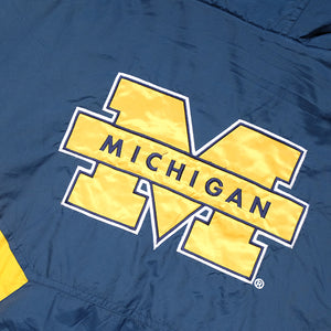 Vintage Starter University Of Michigan Big Spell Out Down Style Jacket - XL