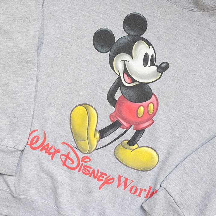 Vintage 90s Mickey Mouse Big Graphic Made In USA Crewneck - L