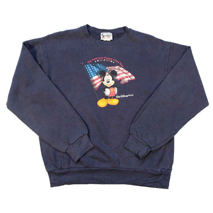 Vintage Mickey Mouse The American Dream Graphic Crewneck - M