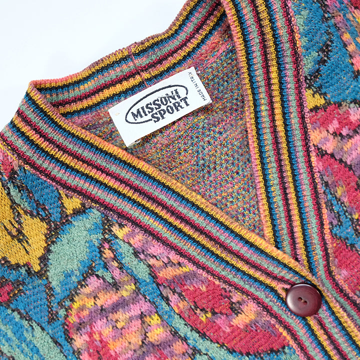 Vintage Missoni Knit Cardigan Made In ITALY - L