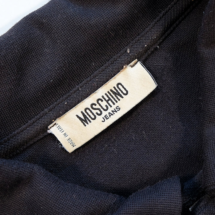 Vintage Moschino Embroidered Spell Out Polo Made In Italy - M