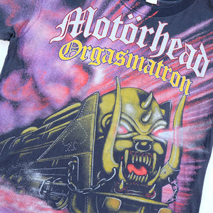 Vintage RARE Motorhead Orgasmatron All Over Front & Back Single Stitch T-Shirt - L
