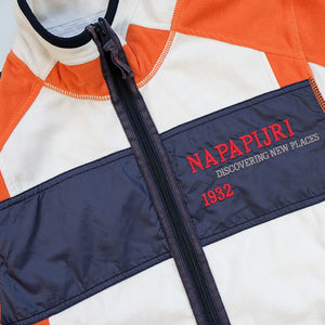 Vintage Napapijri Geographic Spell Out Fleece Jacket - M
