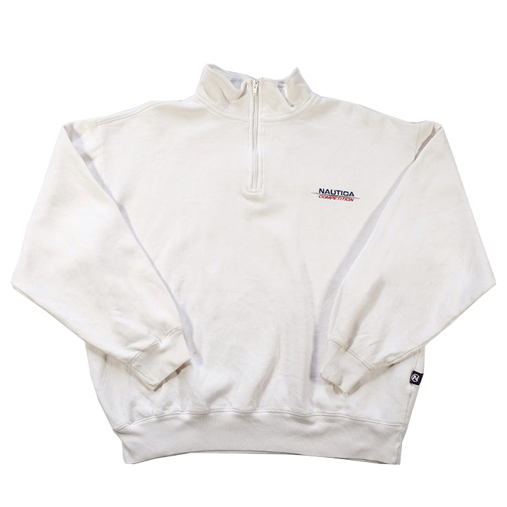 Vintage Nautica Competition Embroidered Spell Out Quarter Zip - L