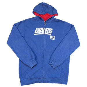 Vintage New York Giants Embroidered Zip Up Hoodie - M
