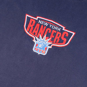 Vintage RARE Starter New York Rangers Embroidered Made In USA T-Shirt - XL