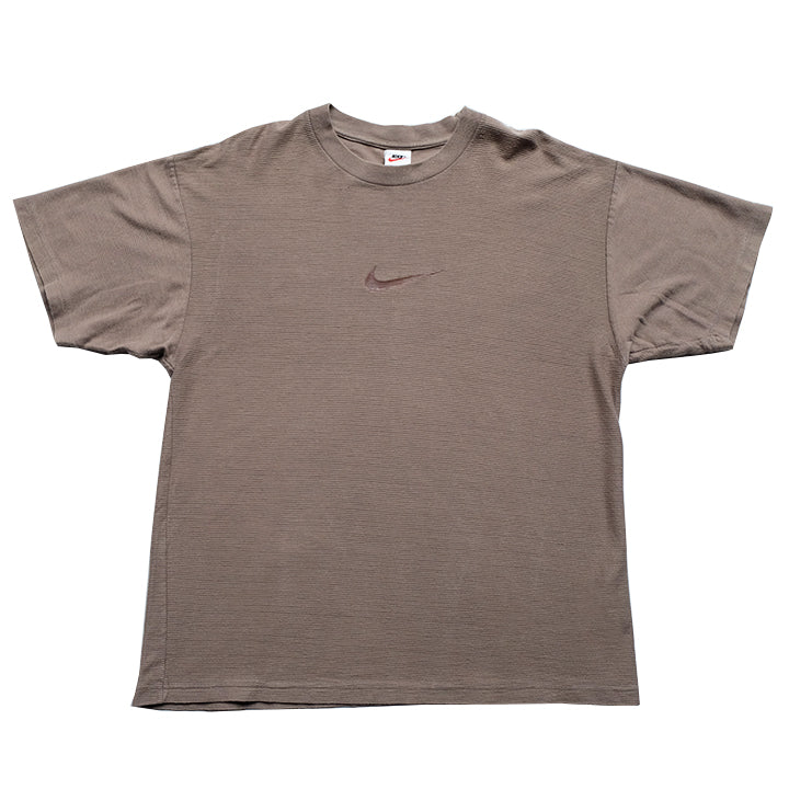 Vintage Nike Ribbed Center Swoosh T-Shirt - L