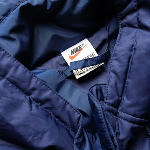 Vintage Nike Big Embroidered Swoosh Puffy Down Jacket - XL